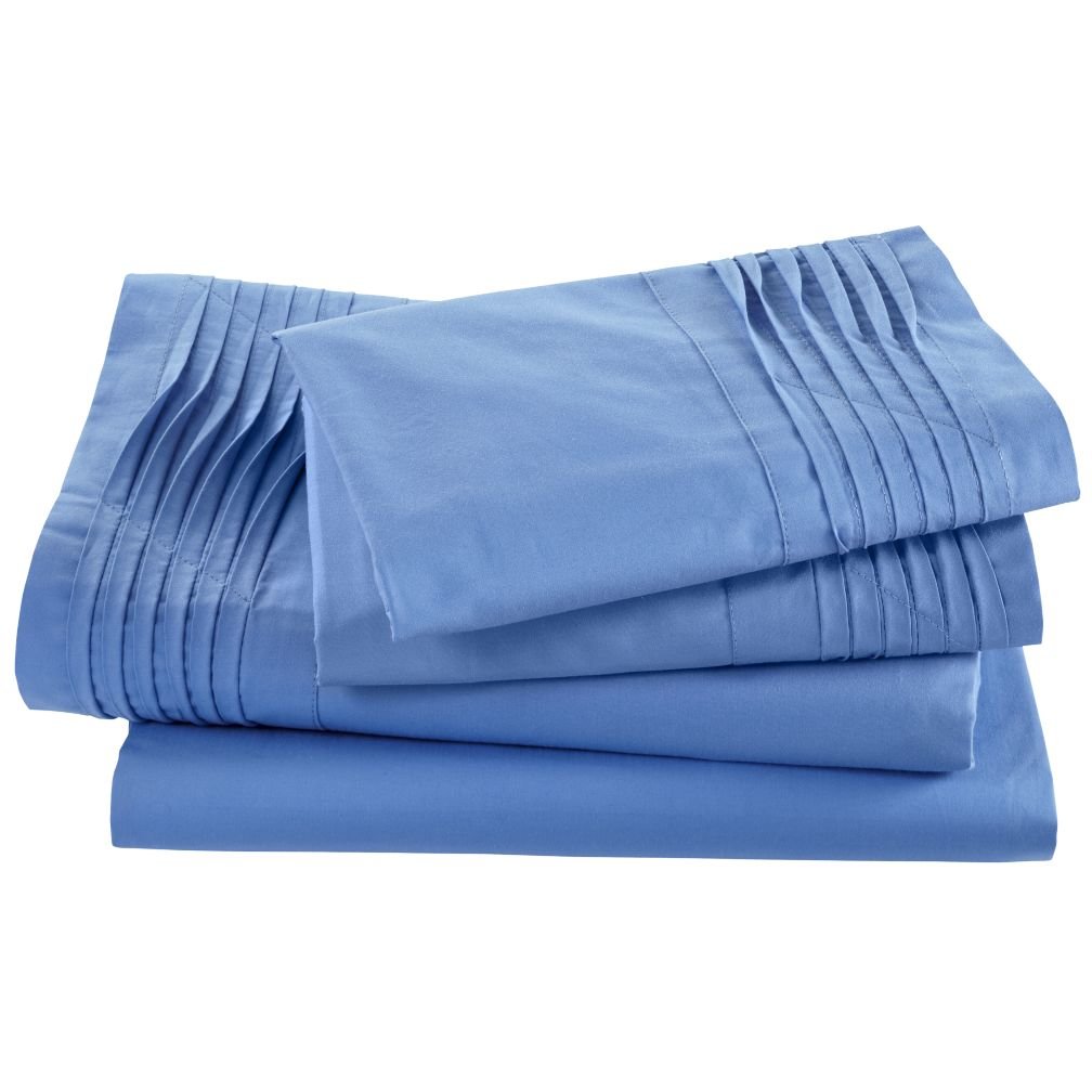 Pinch and Pleat Sheet Set (Blue)