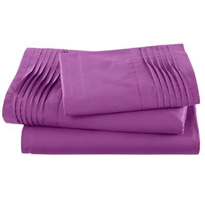 Pinch and Pleat Purple Sheet Set (Twin)