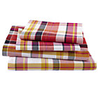 Queen Pink Pick Your Plaid Sheet Set (includes 1 fitted sheet, 1 flat sheet and 2 cases)