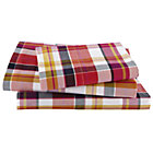 Twin Pink Pick Your Plaid Sheet Set(includes 1 fitted sheet, 1 flat sheet and 1 case)
