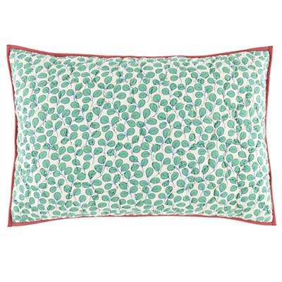 Princess and the Pea Quilted Leaves Sham