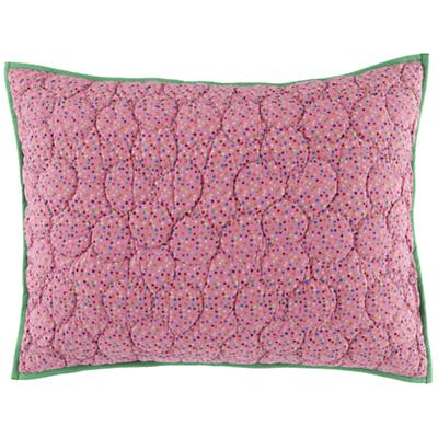 Princess and the Pea Pink Multi Dot Sham