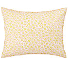 Puzzle Patch Yellow Floral Print Sham