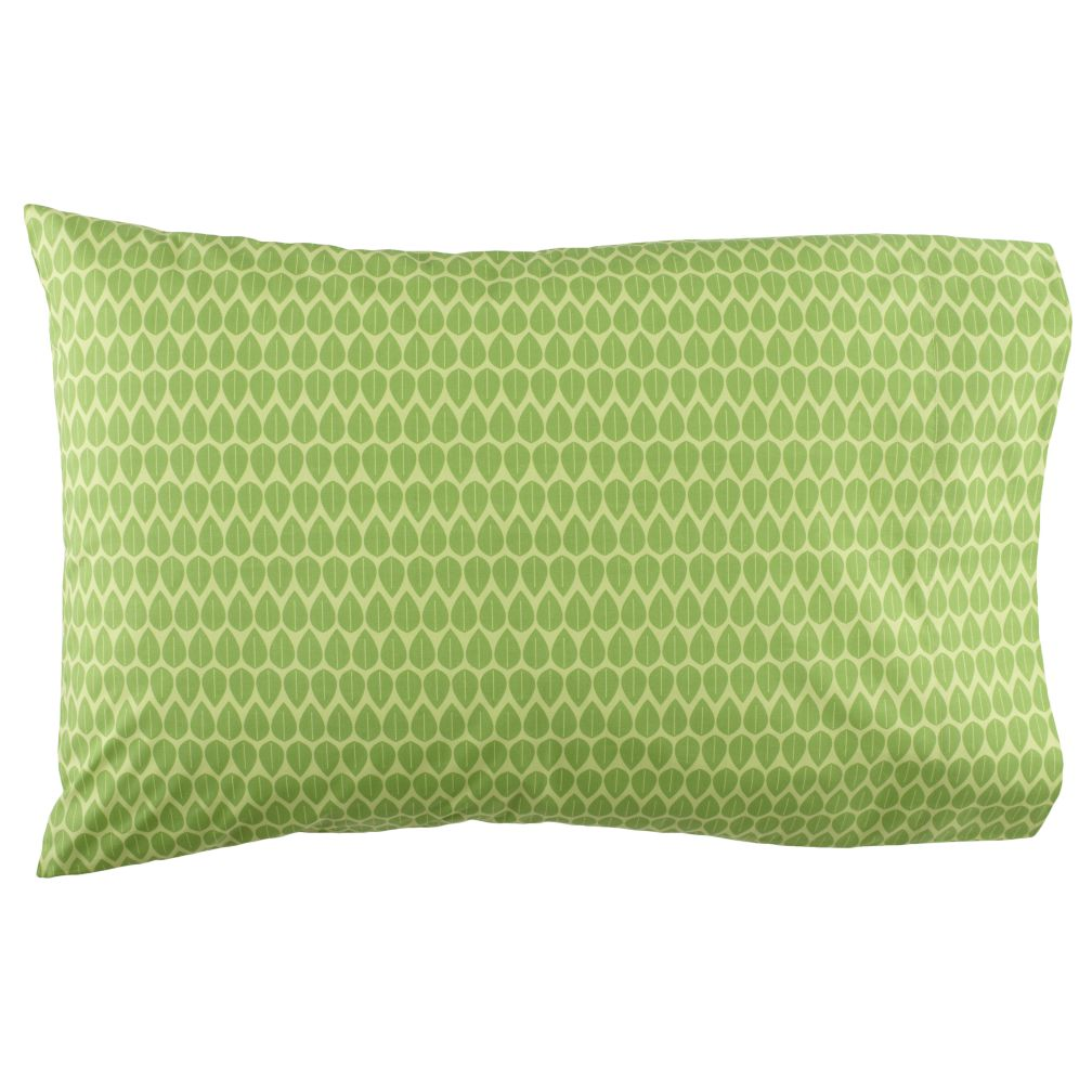 Rainforest Green Leaf Pillowcase