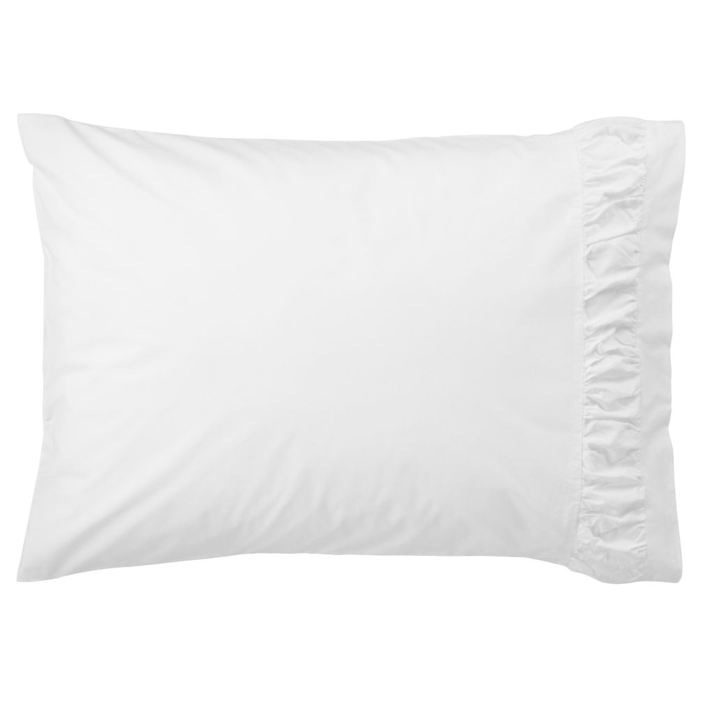 Thrilled to be Frilled White Pillowcase