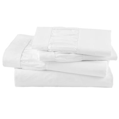 Thrilled to be Frilled White Sheet Set (Full)