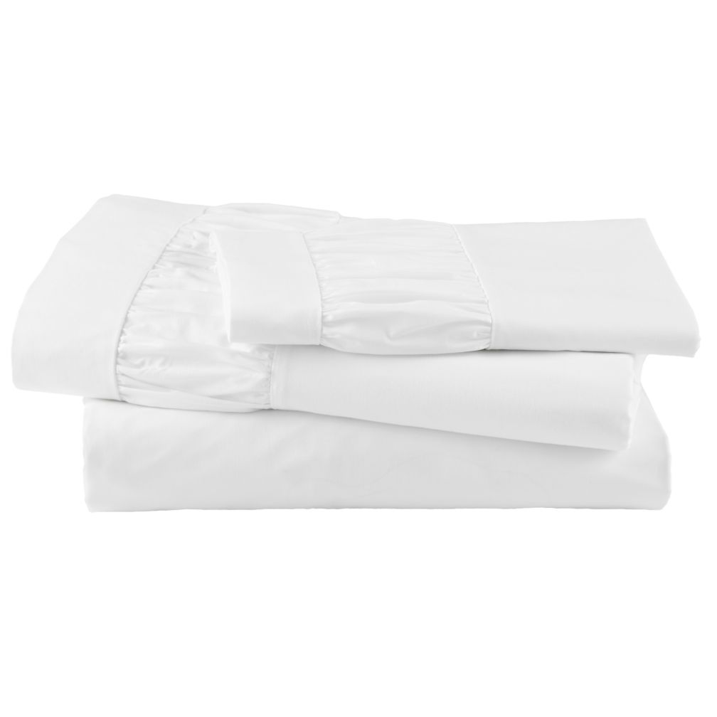 Thrilled to be Frilled White Sheet Set (Twin)