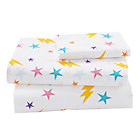 Twin Save the Day Girl Sheet SetIncludes fitted sheet, flat sheet and one pillowcase