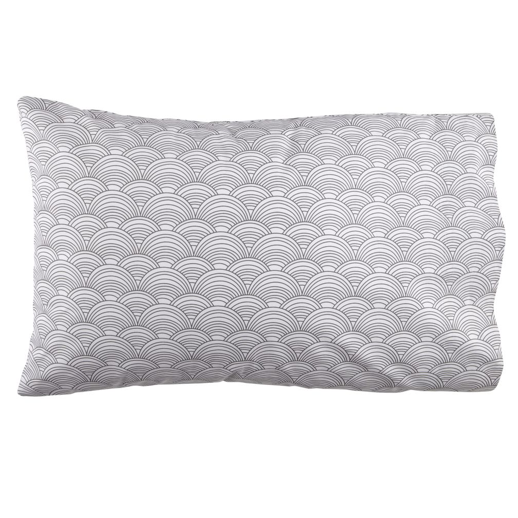 Scalloped Pillowcase (Grey)
