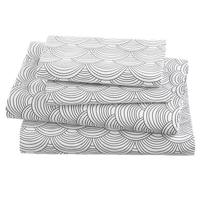 Scalloped Grey Sheet Set (Full)