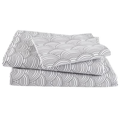 Scalloped Grey Sheet Set (Twin)