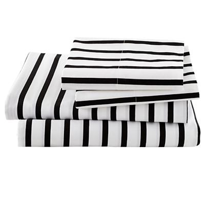 Queen Noir Stripe Sheet Set