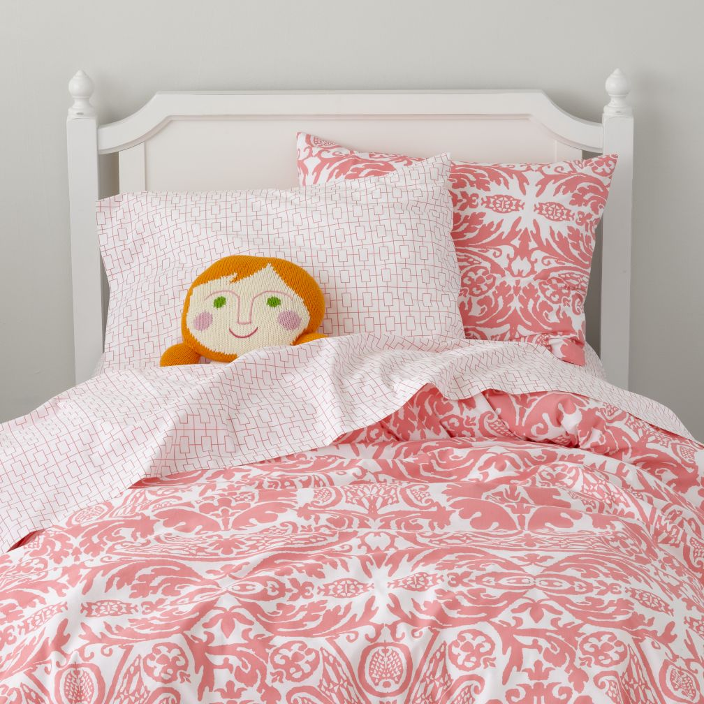 Sleep Patterns Duvet Cover (Pink)