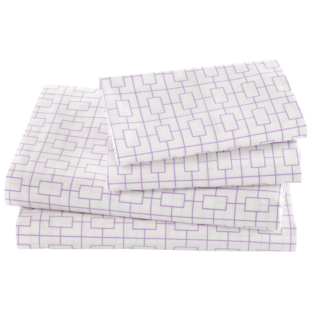 Window Pane Sheet Set (Lavender)