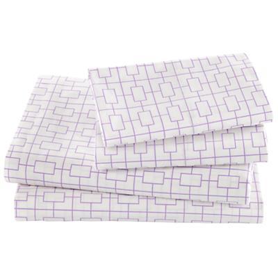 Window Pane Lavender Sheet Set (Full)