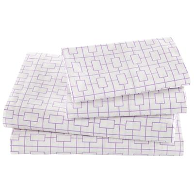 Window Pane Lavender Sheet Set (Queen)