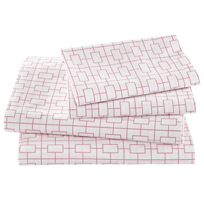 Window Pane Pink Sheet Set (Queen)