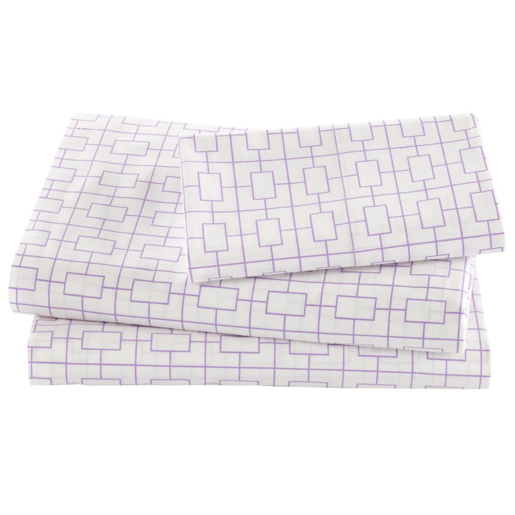 Window Pane Lavender Sheet Set (Twin)