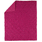 Full-Queen Pink Snug Bug Velvet Quilt