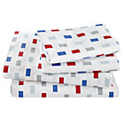 Full Color Block Sheet Set(includes 1 fitted sheet, 1 flat sheet and 2 cases)