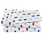 Twin Color Block Sheet Set(includes 1 fitted sheet, 1 flat sheet and 1 case)