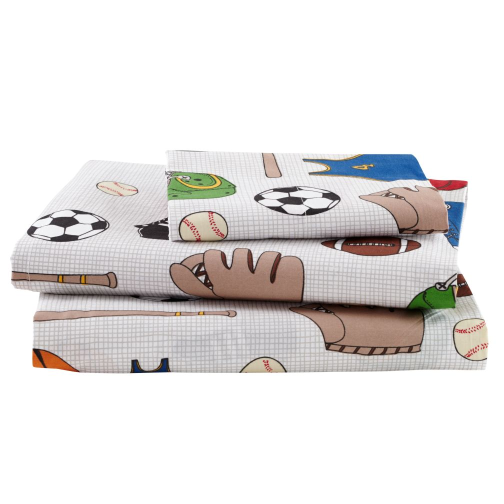 Twin Athletic Commission Sheet Set<br /><br />(includes 1 fitted sheet, 1 flat sheet and 1 case)