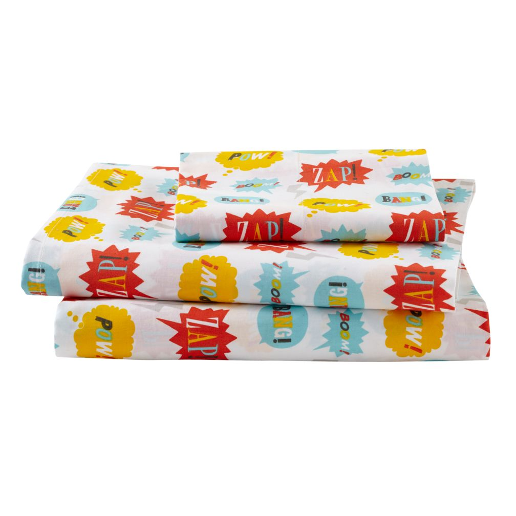 Twin Super Sheet Set<br /><br />Includes fitted sheet, flat sheet and one pillowcase