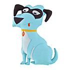 Blue Super Dog Throw Pillow