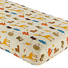 Multi Animal Print Crib Fitted Sheet