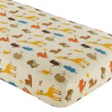 Crib Fitted Sheet (Animal Print)