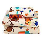 Lions and Tigers Toddler Sheet SetIncludes 1 flat sheet, 1 fitted sheet and 1 toddler pillowcase