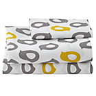 Toddler Yellow/Grey Chick Sheet Set(includes 1 fitted sheet, 1 flat sheet and 1 toddler pillowcase)