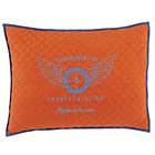 Transit Authority Orange Quilted Sham
