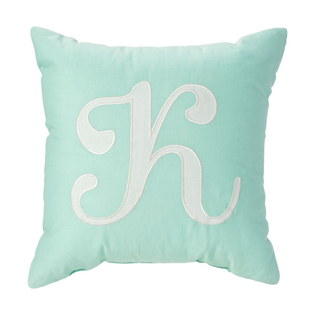 'K' Typeset Throw Pillow
