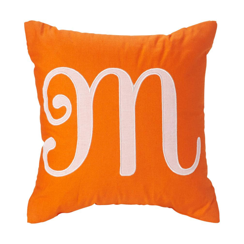 'M' Typeset Throw Pillow