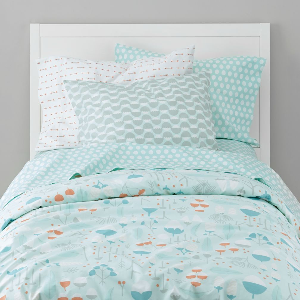 Well Nested Organic Duvet Cover (Blue)