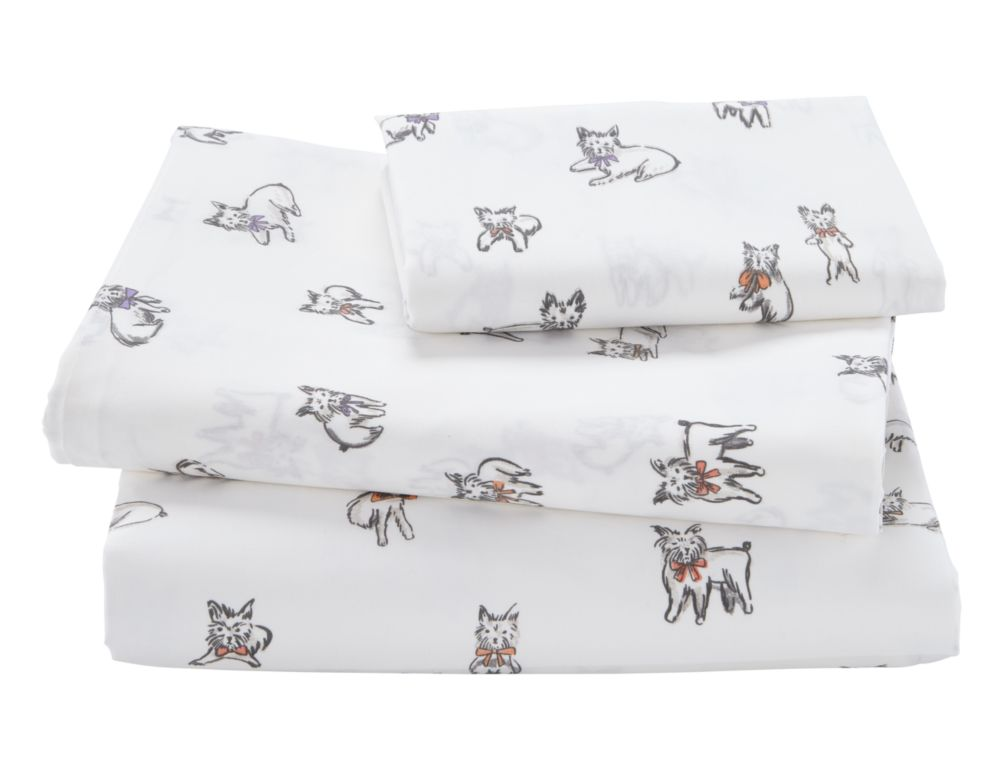 Twin Well Trained Dog Sheet Set