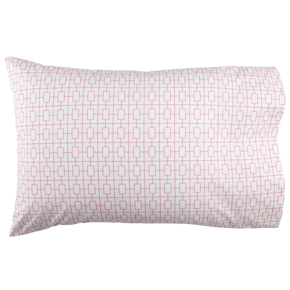 Window Pane Pink Pillowcase