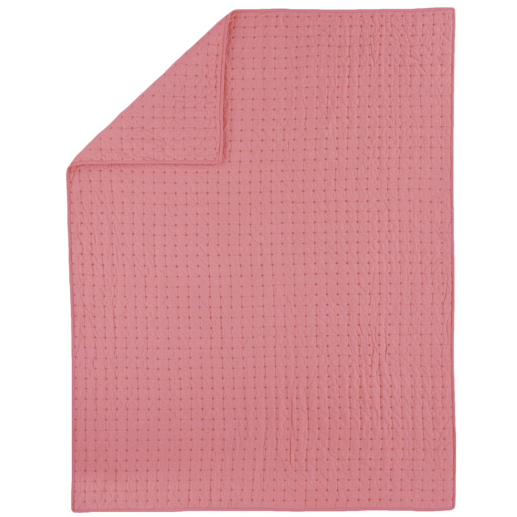 Full/Queen Pink Voile Quilt