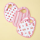 Pink Print Snap Bibs (Set of 3)