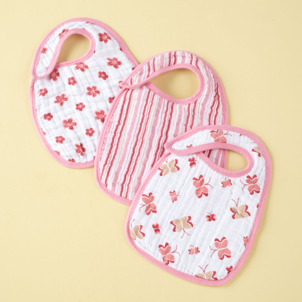 Butterfly Snap Bibs (Set of 3)