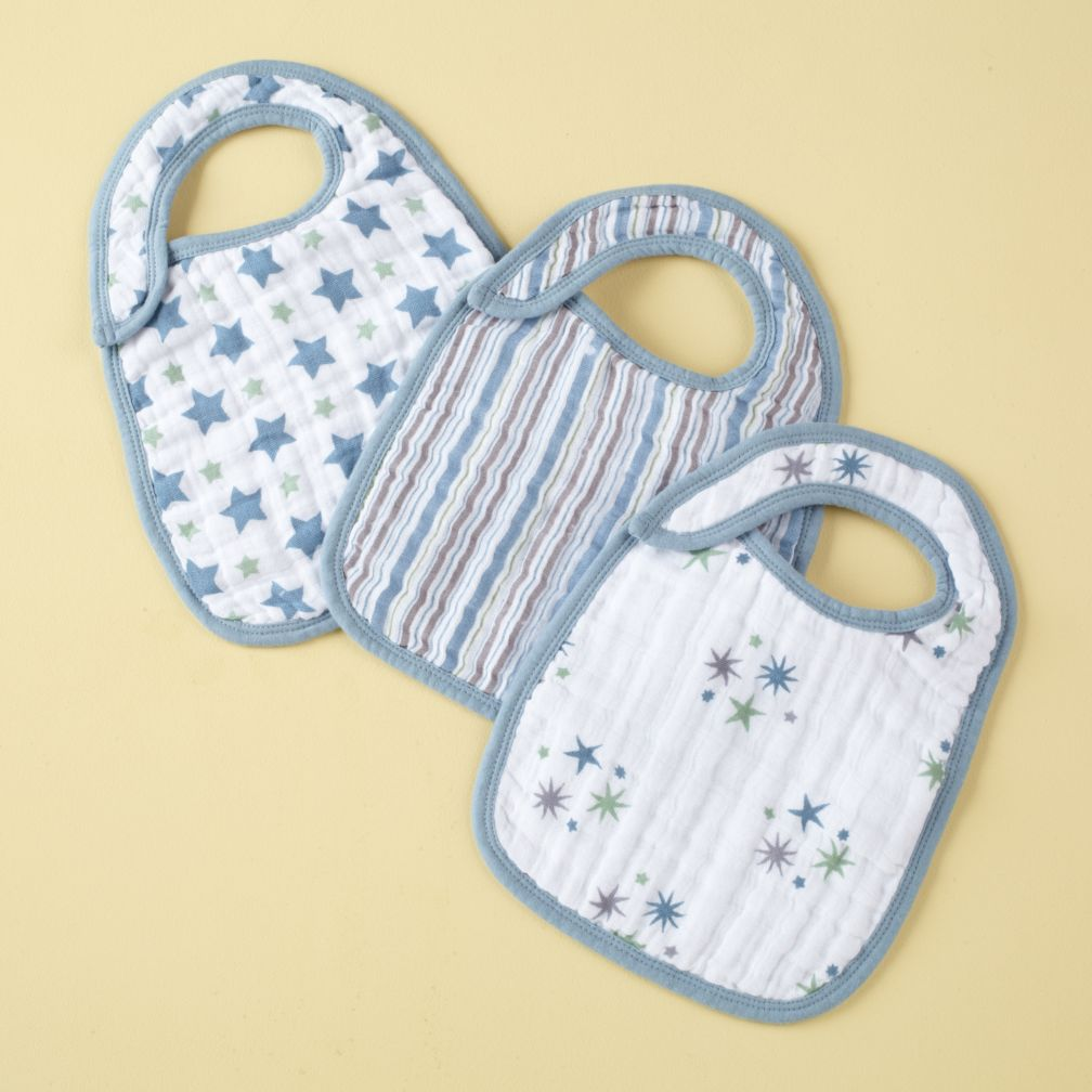 Blue Lookin&#39; Snappy Bibs Set of 3