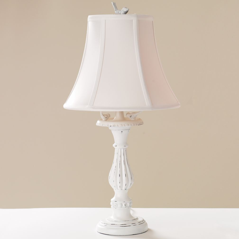 Bird Bath Lamp (White Shade)