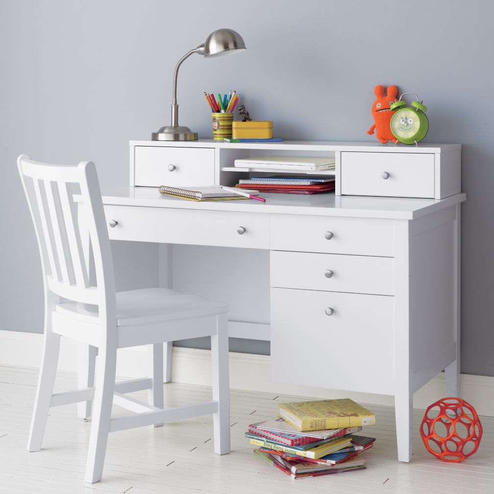 Blake Desk &amp; Hutch (White)
