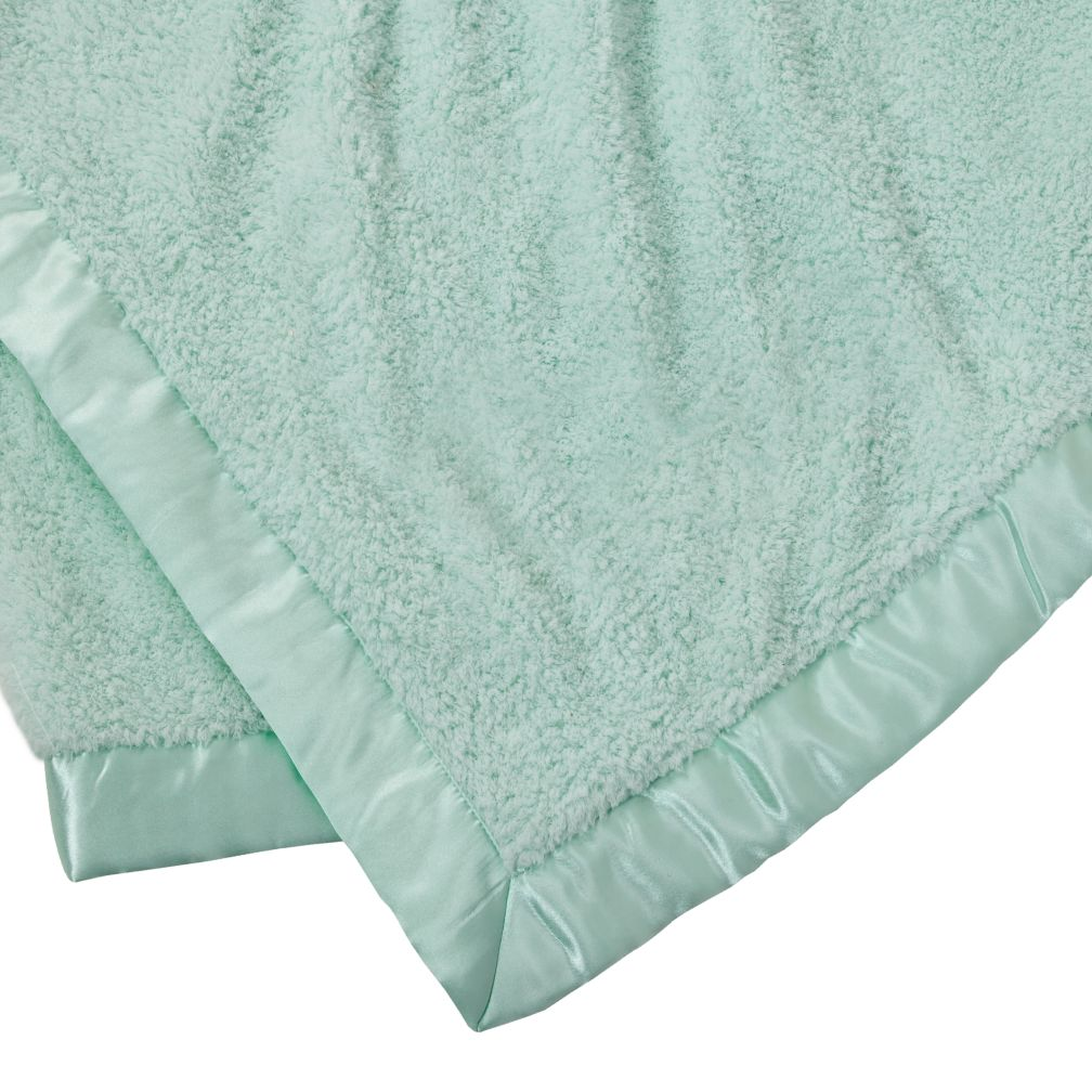 Personalized Lt. Green Cuddle Me Softly Baby Blanket