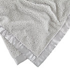 Grey Personalized Cuddle Me Softly Baby Blanket