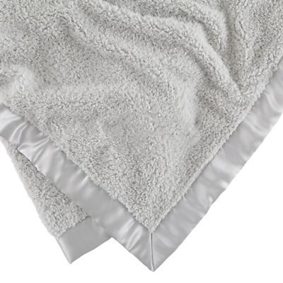 Personalized `Cuddle Me Softly Baby Blanket (Grey)
