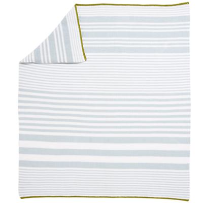 In the Mix Crib Blanket (Blue)