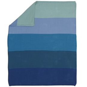Knit Ombré Blanket (Blue)