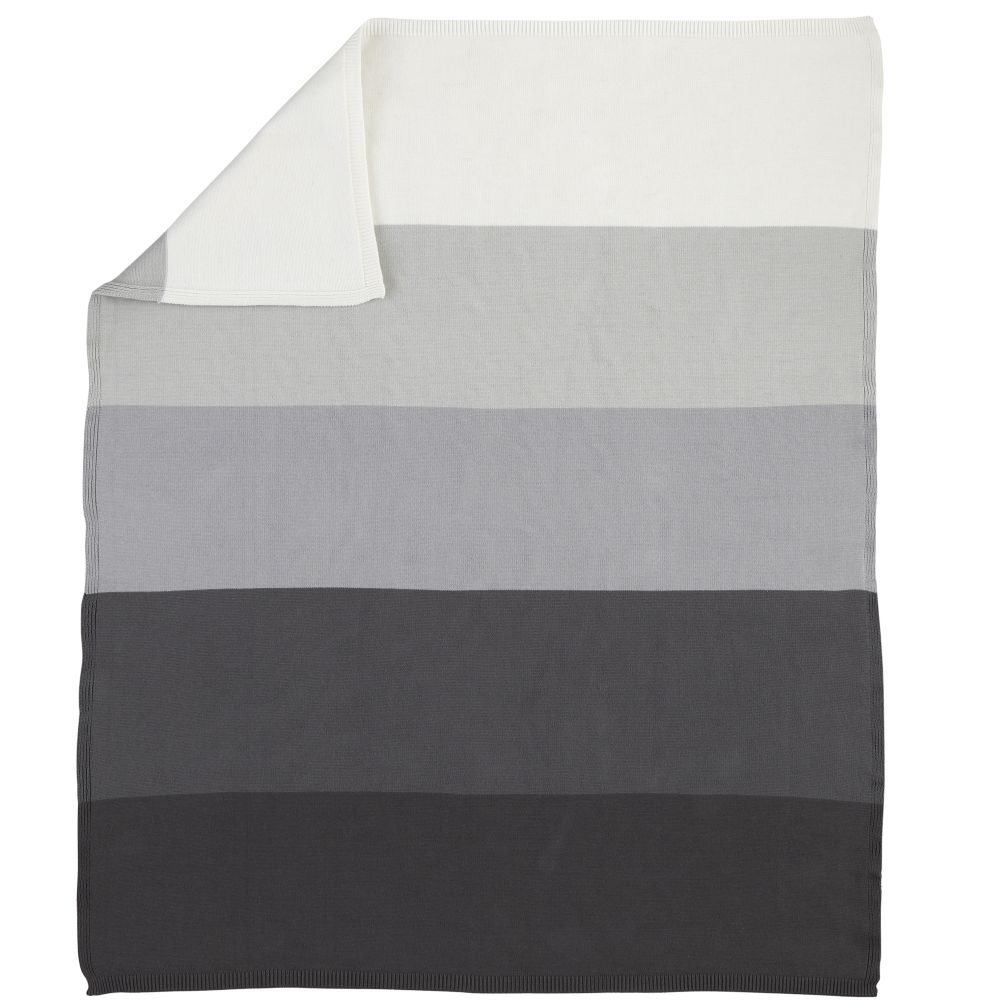 Knit Ombre Baby Blanket (Grey)